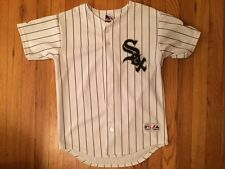 Chicago White Sox White Pinstripe Majestic Youth Jersey Medium w/ '05 WS Champs