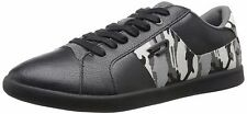 Diesel Designer Fashion Eastcop Gotcha Leather Camo Black Mens Shoes Sneakers