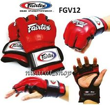 SPARRING GLOVES FGV12 M FAIRTEX MUAY THAI BOXING MMA OPEN THUMB LOOP ULTIMATE