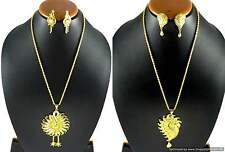 Pendant Locket Earrings set Gold Plated Ethnic Designs Indian Fashion Jewelry