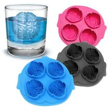 Silicone Brain Shaped Round Ball Ice Cube Mold Tray Desert Sphere Mould DIY AT