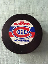 1987-92 NHL Official Zeigler Game Puck MONTREAL CANADIENS Small Logo Canada