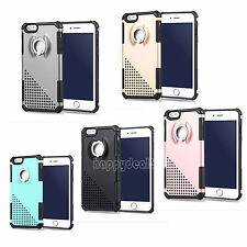 Shockproof Rubber Hybrid Radiating Hard Back Case Cover For iPhone 6 6s Plus