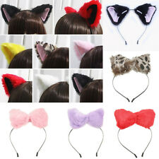 Cosplay Costume Party Cat Fox Long Fur Ears Anime Neko Costume Hair Headband