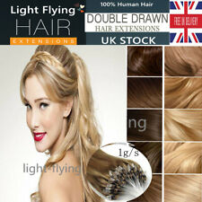 22''Micro Loop Double Ring Beads Remy Human Hair Extensions 1g/s Mixed Color