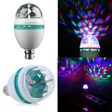 E27/B22 3W RGB Crystal Ball Rotating LED Stage Light Bulbs Disco Party Bulb Lamp