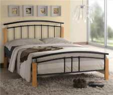 Tetras 5ft King Size Modern Metal Bed Frame Black Silver
