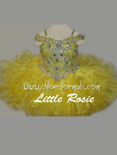 BABY PAGEANT DRESS * LITTLE ROSIE * YELLOW * SZ 6 MTHS 8 NWT