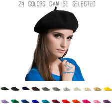 Sweet Womens Solid Wool Beret French Artist Warm Beanie Hat Winter Ski Cap NEW