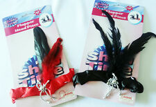 red black flapper feather headband womens costume gangster 1920's 20's