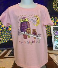 """I'M A NIGHT OWL"" 100% COTTON SUPER SOFT TODDLER SHIRTS, Artist Jamie Hayes"