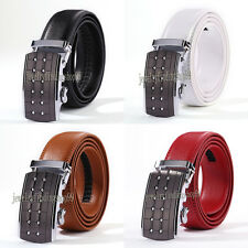 Men's Belts Automatic Buckle Waistband Waist Strap Fashion Genuine Leather Belt