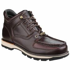 Rockport UMBWE TRAIL WP Mens Leather Lace Up Waterproof Trail Boots Red Brown