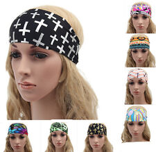 Headband Yoga Turban Hair Band Women Wide Sports Stretch Hairband Elastic