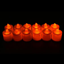 12pcs Candles Tealight Led Tea Light Flameless Flickering Wedding Battery Includ