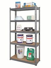 5 TIER BOLTLESS INDUSTRIAL HEAVY DUTY RACKING SHELVING STORAGE UNIT GARAGE NEW