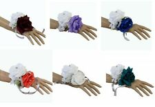 Wrist Corsage - Two Rose Corsage - Pick 1 Color Rose - Artificial Flowers