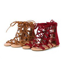Gladiator Womens Sandal Lace Up Ankle Strap Boot Hollow Out Roma Shoes All US Sz