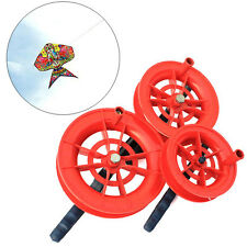 50M/100M Twisted String Line Red Fire Wheel Kite Reel Winder Handle Flying Tool