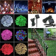 100 or 200 LED Solar Powered Fairy String Light Garden Party Decor XMAS