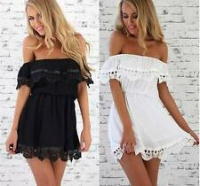 Casual Lace Dress Summer Women Evening Cocktail Sleeveless Sexy Party Mini