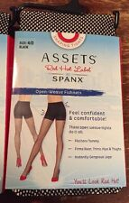 Assets Red Hot Label by Spanx Open Weave BLACK Fishnet Shaping Tights