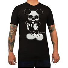 Mikey by Josh Stebbins Tattoo Art Men's Black Tee Shirt Dead Mickey Mouse Skull