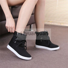 Fashion Causal ankle boots sport sneakers women's High-top buckle shoes