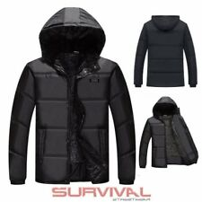 Mens Puffer Winter Jacket Warm Padded Lined Outer Wear Detachable Hooded Coat