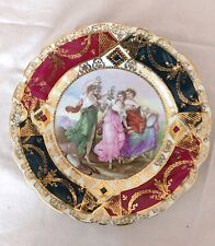ANTIQUE PROV SAXE ES GERMANY PORCELAIN  GILT PLATE SIGNED A KAUFMANN 1902 - 1903
