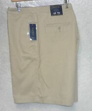 Club Room Mens Shorts Twill flat front solid patrol khaki cotton size 44 NEW