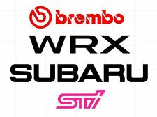 2015-2017 Subaru WRX / STI Brake Caliper Sticker Pack for CTS Brembo Brake Swap