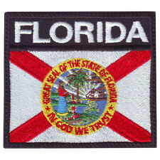 FLORIDA BADGE FLAG EMBROIDERED  PATCH