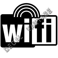 Wifi Spot Radiowaves Style C Logo Vinyl Sticker Decal - Choose Size & Color