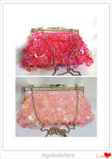 Handmade Class Sequin Evening beaded clutch purse Handbag and Shoulder/Party