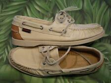 SEBAGO SPINNAKER Beige Canvas Docksides Lace Up Boat Shoes Women NEW Box