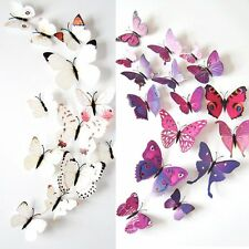 12PCS 3D Butterfly Art Decal Wall Stickers/Magnetic Home Decor Room Decorations