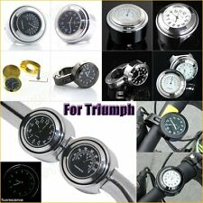 """Waterproof Alloy Handlebar Watch Thermometer Clock 7/8"""" 1"""" For Triumph Motorbike"""