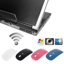 Slim Bluetooth Wireless Optical Mouse 1600 Dpi For Windows 7/8 Android Macbook