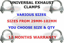 UNIVERSAL EXHAUST U BOLT CLAMP AUTO U BOLT TV AERIAL PIPE FIXING 28mm - 102mm