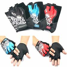 Fashion Male Half Finger Gloves Bicycle Motorcycle Sport Short Fingerless Gloves