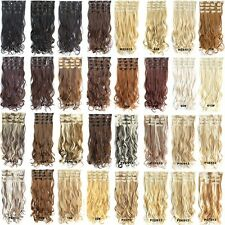 "22"" 7pcs/set Clip In Long Wavy Curly Full Head Synthetic Fibre Hair Extensions"