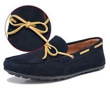 Casual Breathable Driving Suede Leather Loafers Mens Soft Dress Shoes Slip-Ons