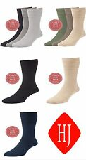 Mens HJ Softop COTTON Loose Top Non-Elastic Sock, HJ91, 6-11, 11-13. 3 Pair Pack