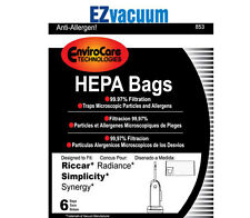 Simplicity Synergy/Riccar Radiance Upright Vacuum Cleaner Bags