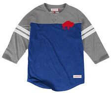"Buffalo Bills Mitchell & Ness NFL ""Starting"" 3/4 Sleeve Tri-blend Henley Shirt"