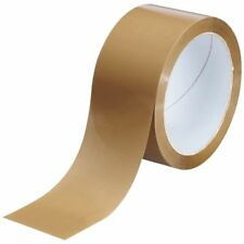 ROLLS BROWN BUFF PARCEL STRONG PACKAGING PACKING BUFF BOX SEALING TAPE 48MM X66M