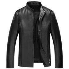 Fashion Men's Genuine Leather Casual Short Jackets Slim Fit Coats Jackets Hot