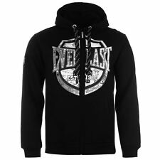 New EVERLAST Men's Logo Zipped Hoodie | Black RRP $99.98 Fleece Lining
