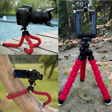 Universal Mini Flexible Stand Tripod Mount + Free Holder For Mobile Phone Camera